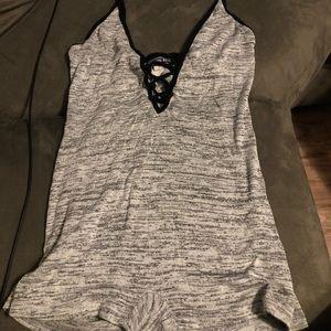 Grey Fashion Nova Romper size S